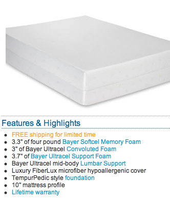 Sundance Memory Foam Mattress - Rocky Mountain Mattress