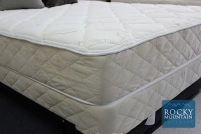 Bamboo material covered bed by Rocky Mountain Mattress