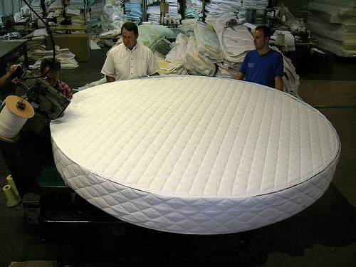 Example of a custom round mattress made by Rocky Mountain Mattress – we can do ANY SIZE!