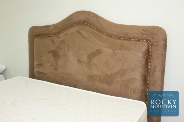Here is an example of a custom headboard by Rocky Mountain Mattress