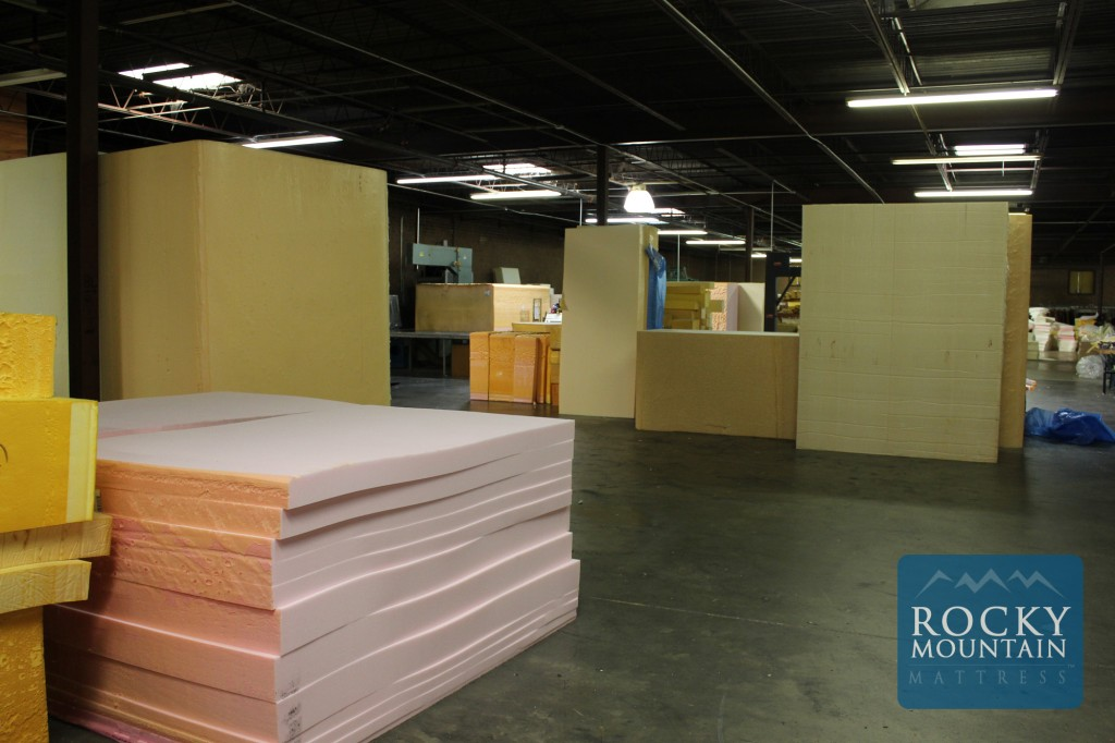 Memory Foam Cuts - Rocky Mountain Mattress Factory Examples