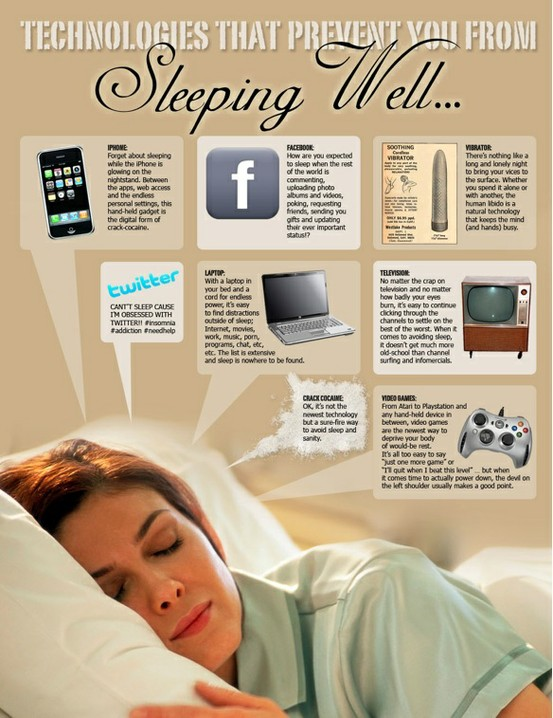 Technologies that prevent you from sleeping well